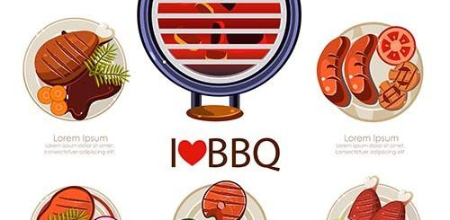 BBQ and Seafood Design Infographic Set