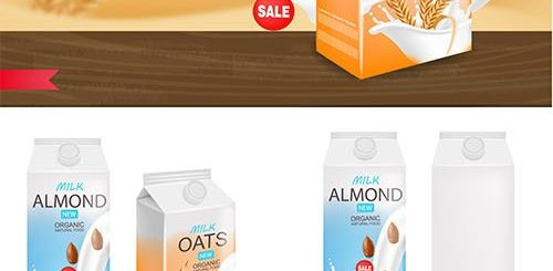 Organic Milk Product Illustration and Box Package