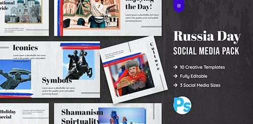 Russia Day Social Media Template