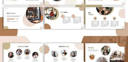 cafetaria restaurant powerpoint template