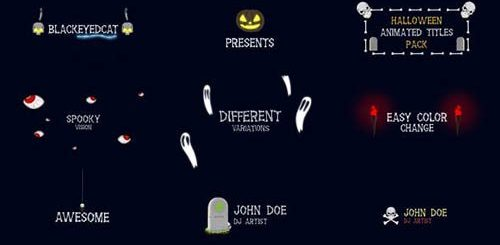 Halloween Titles Animation Pack 20826696