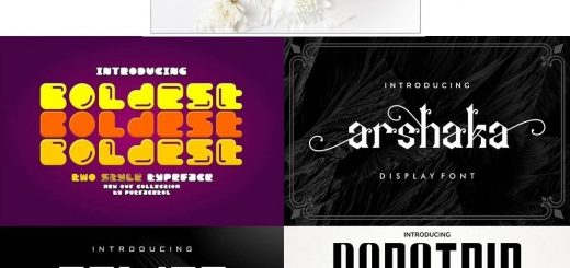 stylish font collection