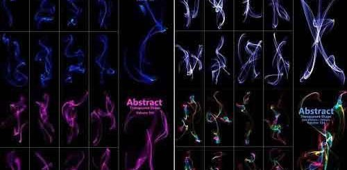 CreativeMarket – Abstract Motion Brush and PNG Bundle 5284065