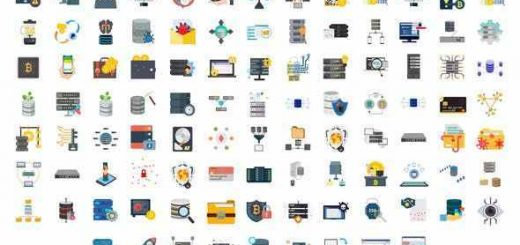 VIDEOHIVE 100 CYBER SECURITY & DATABASE ICONS