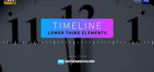 VIDEOHIVE TIMELINE LOWER THIRD ELEMENTS